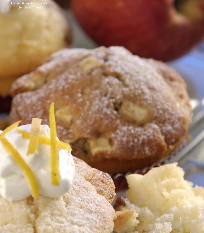 Tönkölybúzás, almás muffin