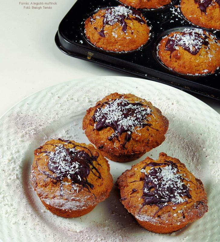 Pirított kókuszos muffin