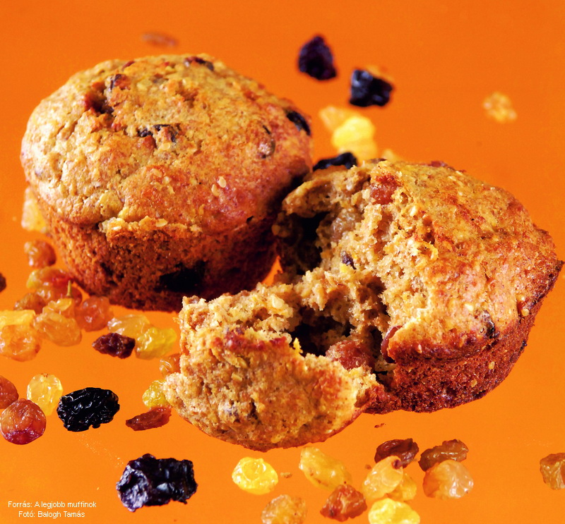 Reformos, szezámos, mazsolás muffin
