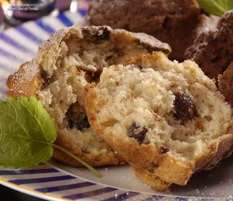 Rumos, aszalt szilvás muffin