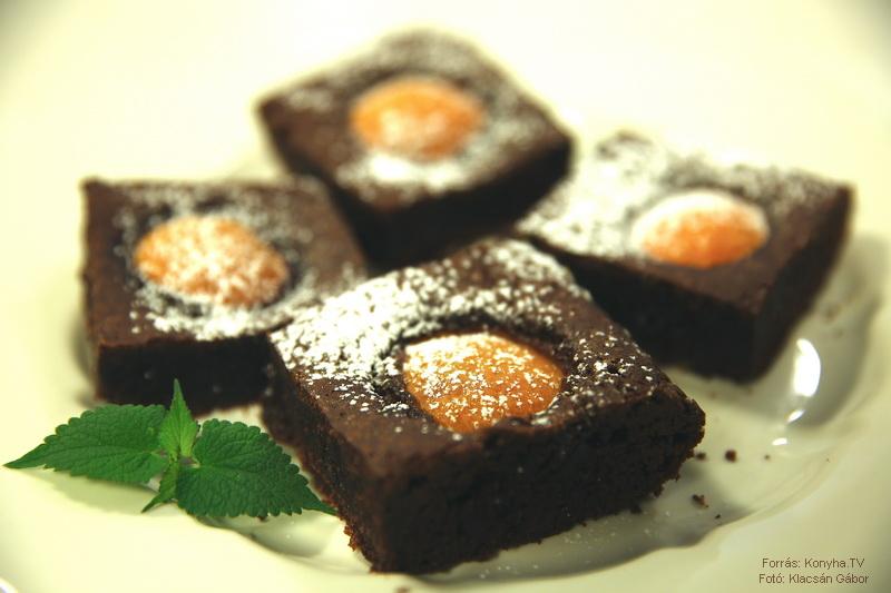 Sárgabarackos brownie