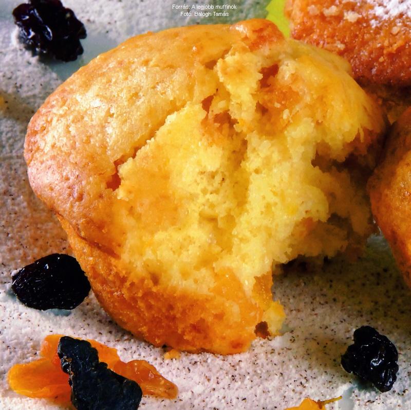 Sárgabarackos, joghurtos muffin