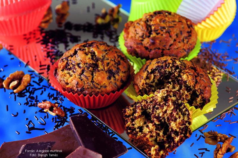 Sütőtökös, csokidarás muffin