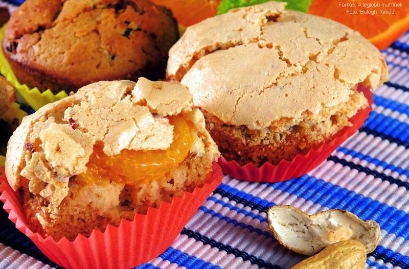 Teás, mandarinos, mandulahabos muffin
