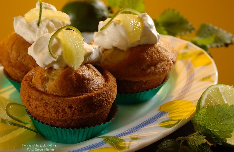 Zöldcitromos muffin