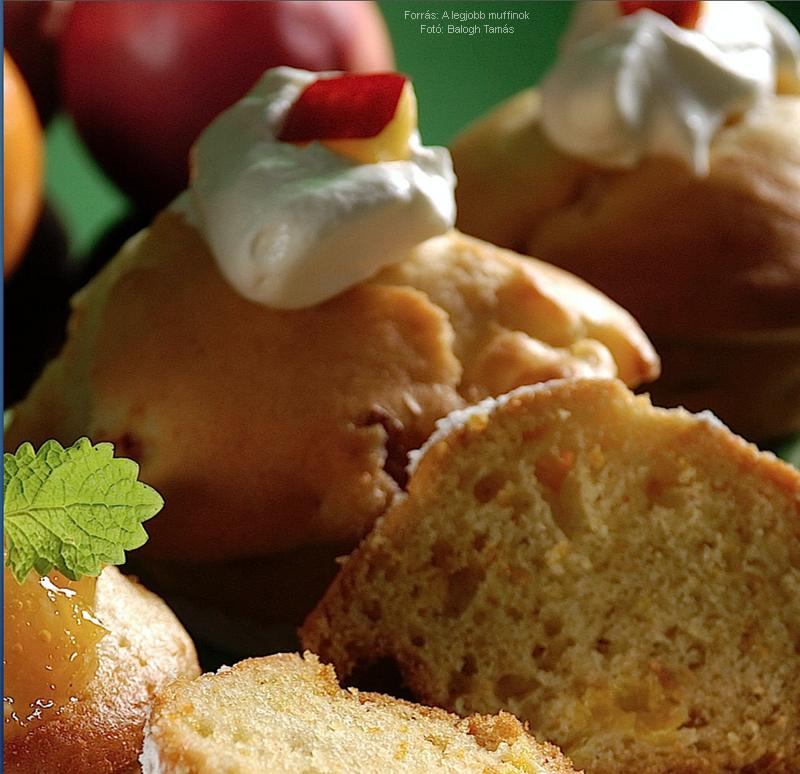 Őszibarackos, nektarinos muffin