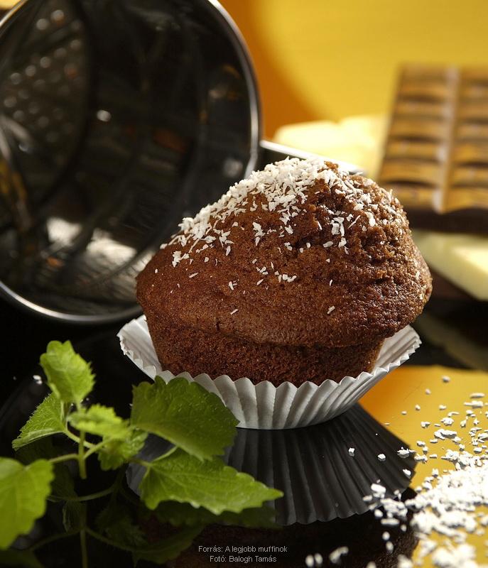Csokoládés, kókuszos muffin