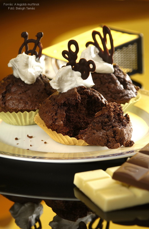 Csupa csokoládés muffin