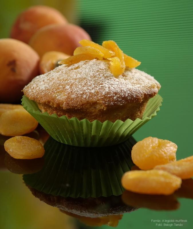 Duplán barackos muffin