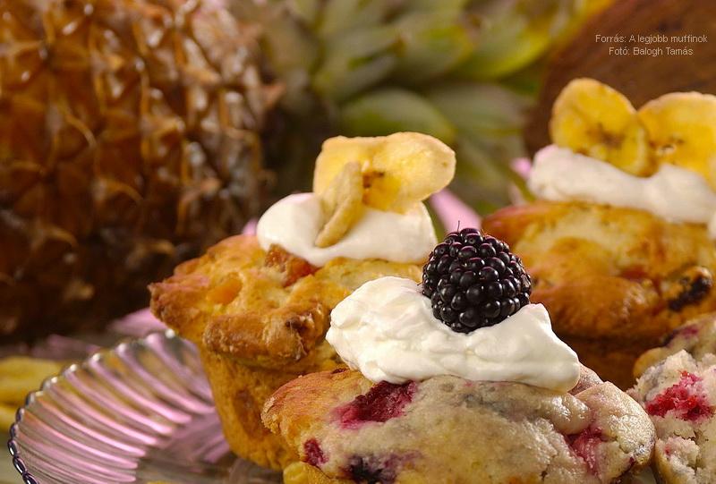 Egzotikus gyümölcsös muffin
