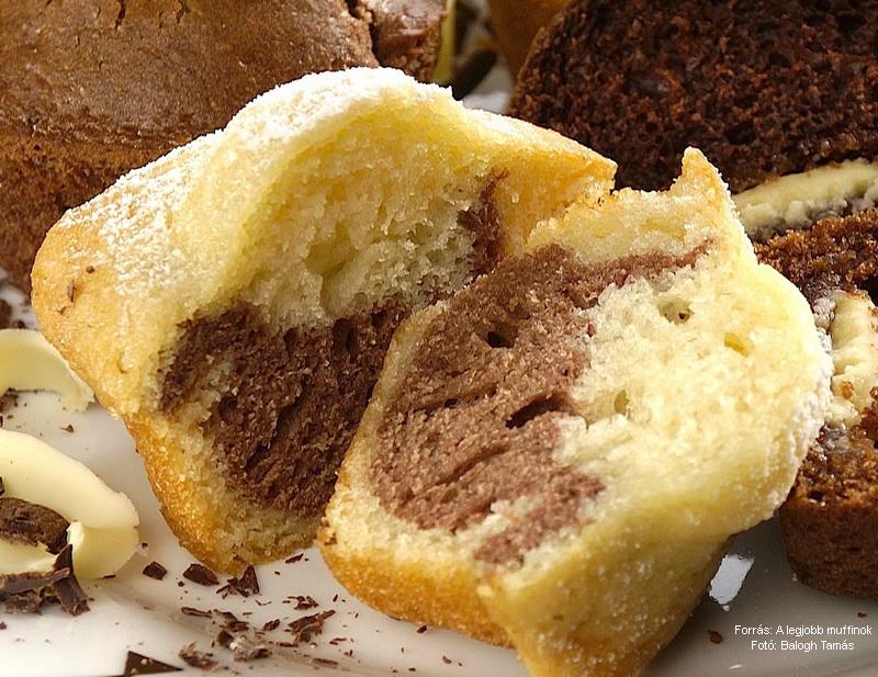 Fehér-fekete muffin