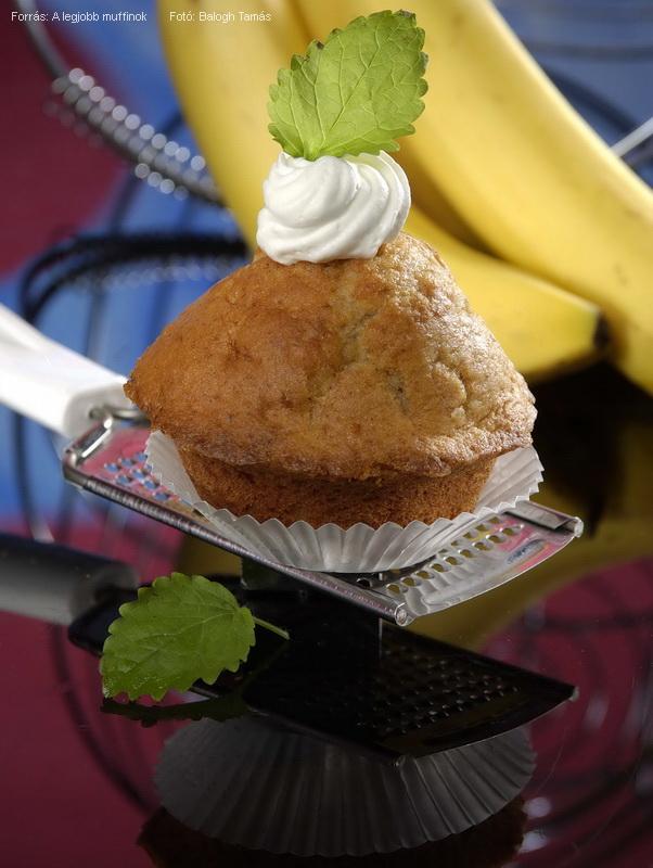 Joghurtos, banános muffin