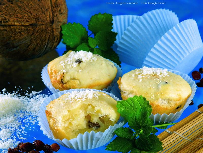 Joghurtos, kókuszos muffin
