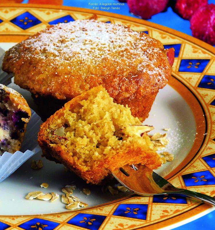 Juharszirupos, zabpelyhes muffin