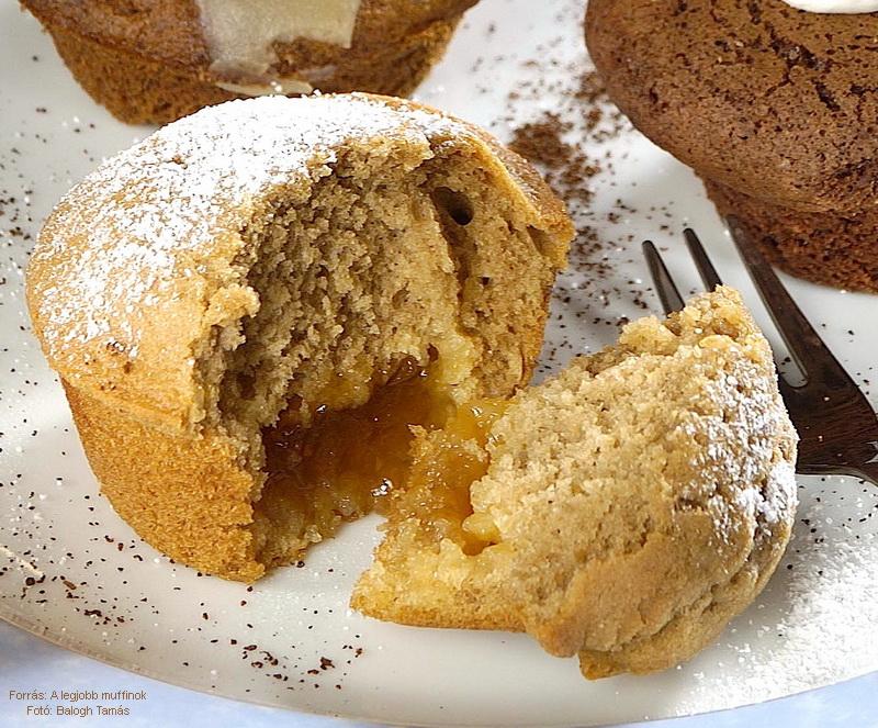 Kávés, lekváros muffin
