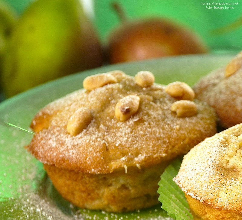 Körtés, mogyorós muffin
