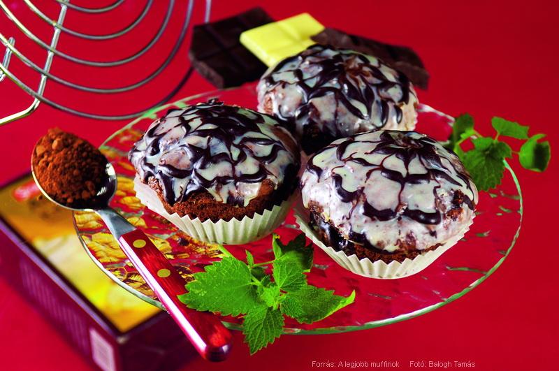 "Kakaós ""pókháló"" muffin"