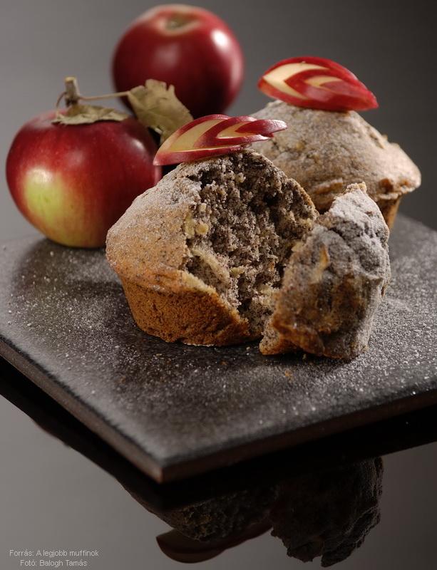Mákos, almás muffin
