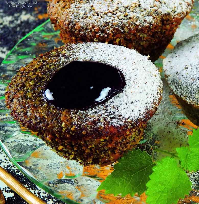 Mákos, lekváros muffin