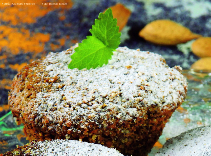 Mákos, mézes, kukoricalisztes muffin
