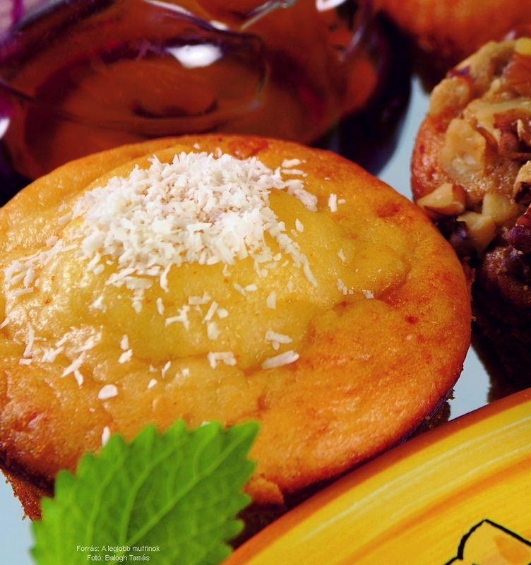 Mézes, kókuszos muffin