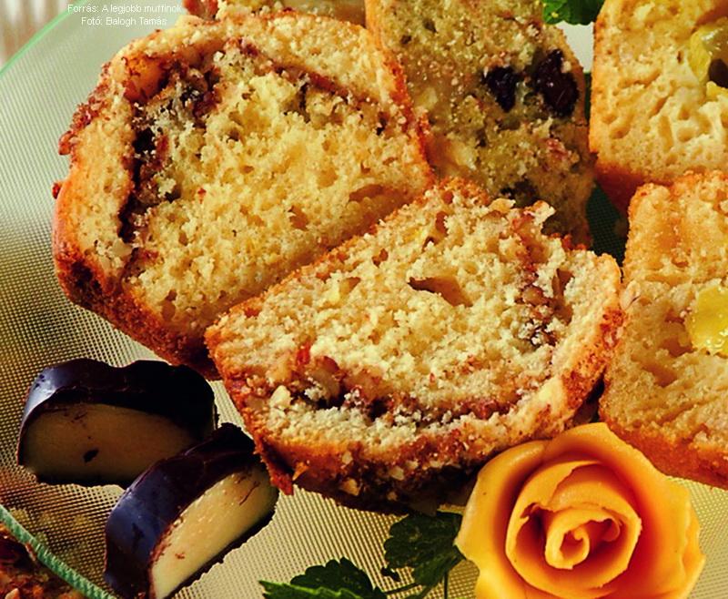 Mandulával töltött muffin