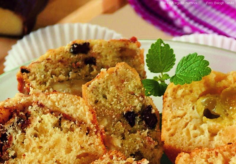 Marcipános, mandulás muffin