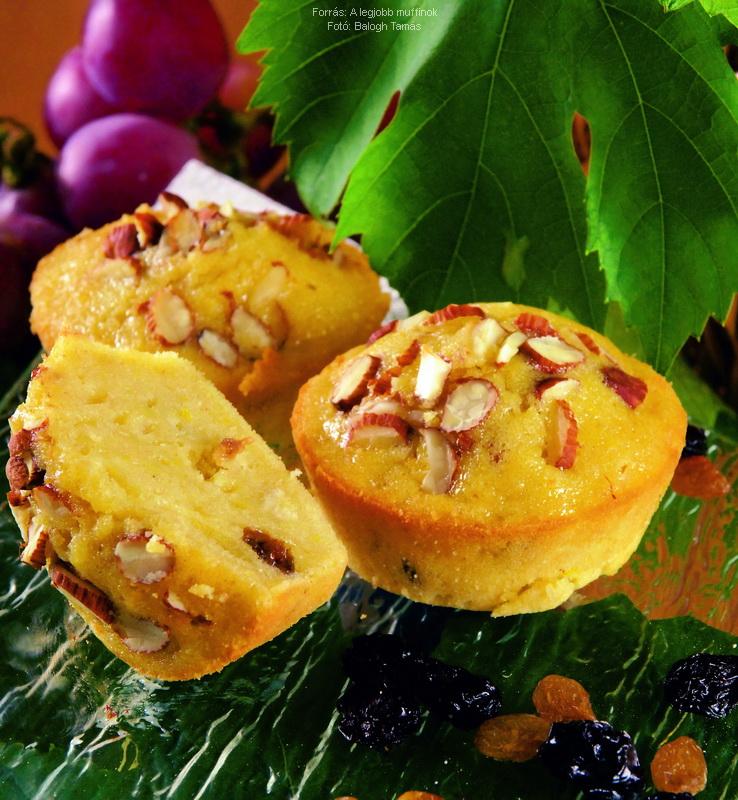 Mazsolás burgonyás muffin
