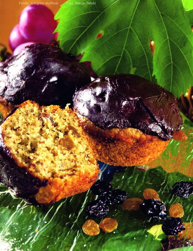 Mazsolás, diós, mézes, csokoládés muffin