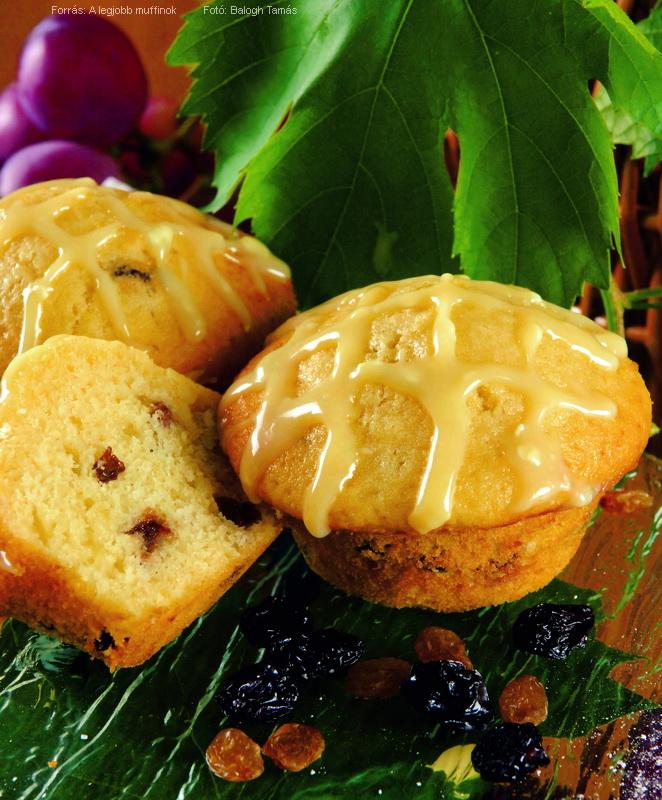 Mazsolás, duplán csokoládés muffin