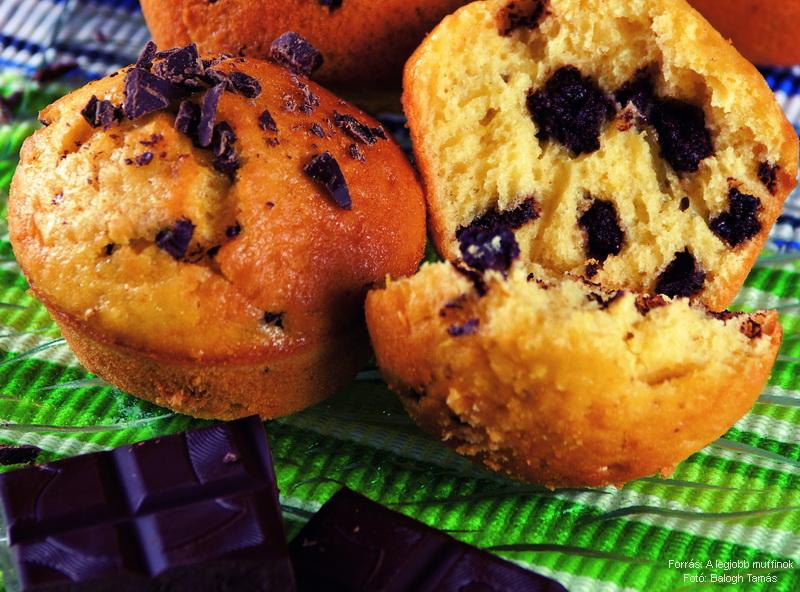 Narancsos, csokoládés muffin