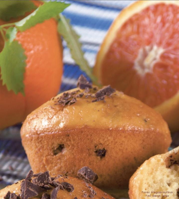 Narancsos, datolyás muffin
