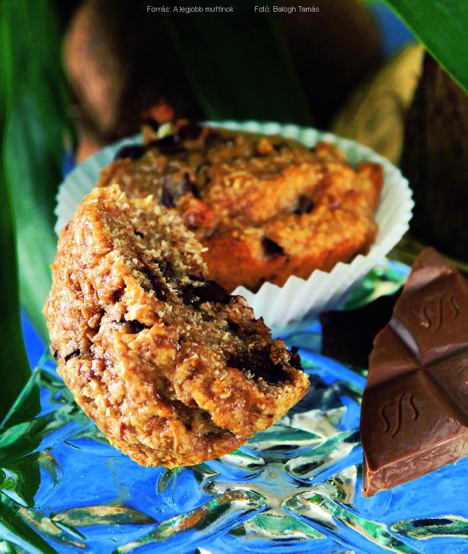 Kókuszos, csokis muffin II.