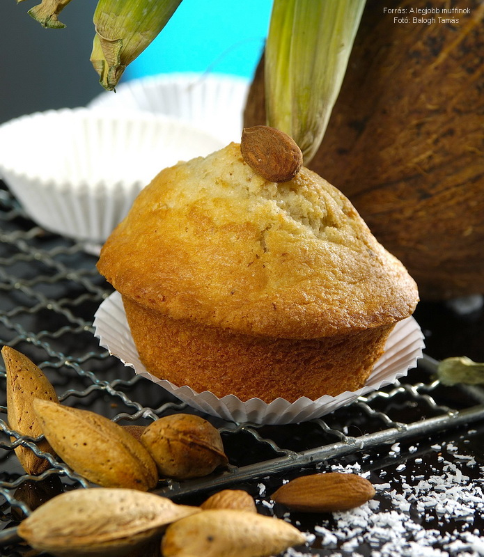 Kókuszos, mandulás muffin