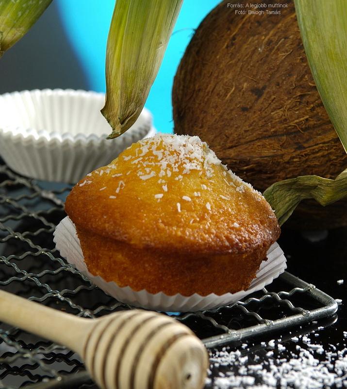 Kókuszos, mézes muffin