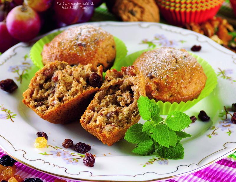 Korpás, mazsolás muffin