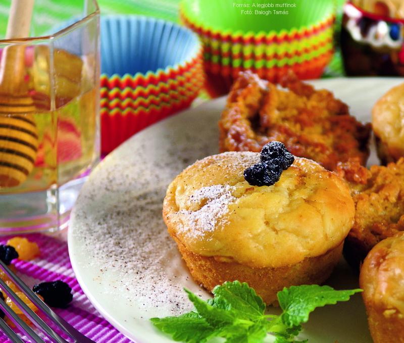 Körtés, mézes muffin