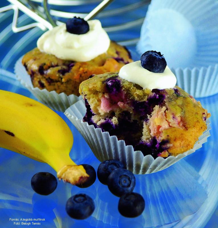 Áfonyás, banános muffin
