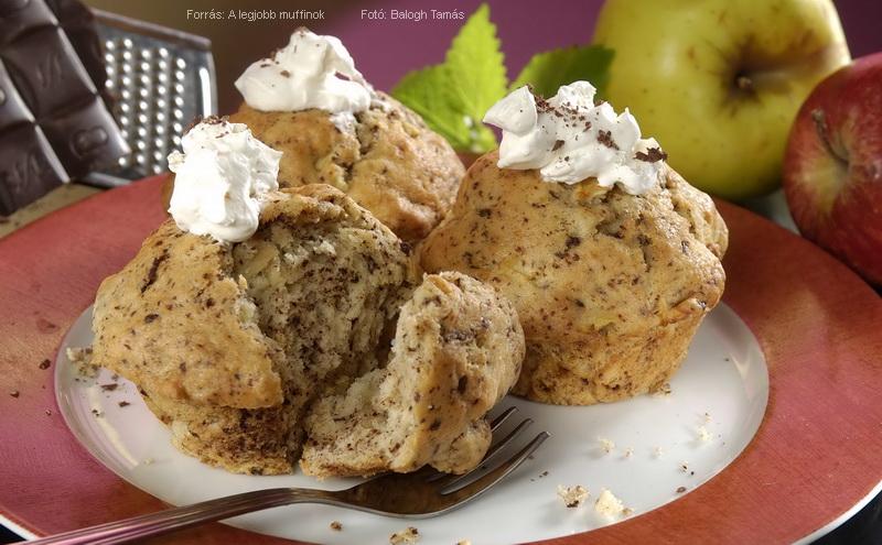 Almás, csokoládés muffin