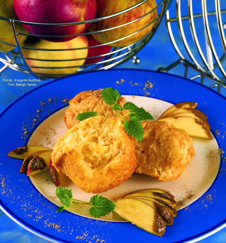 Almás, joghurtos muffin