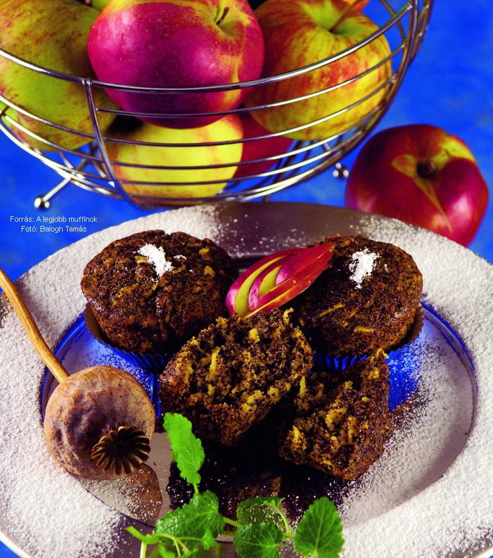 Almás, mákos muffin