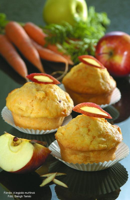 Almás, sárgarépás muffin