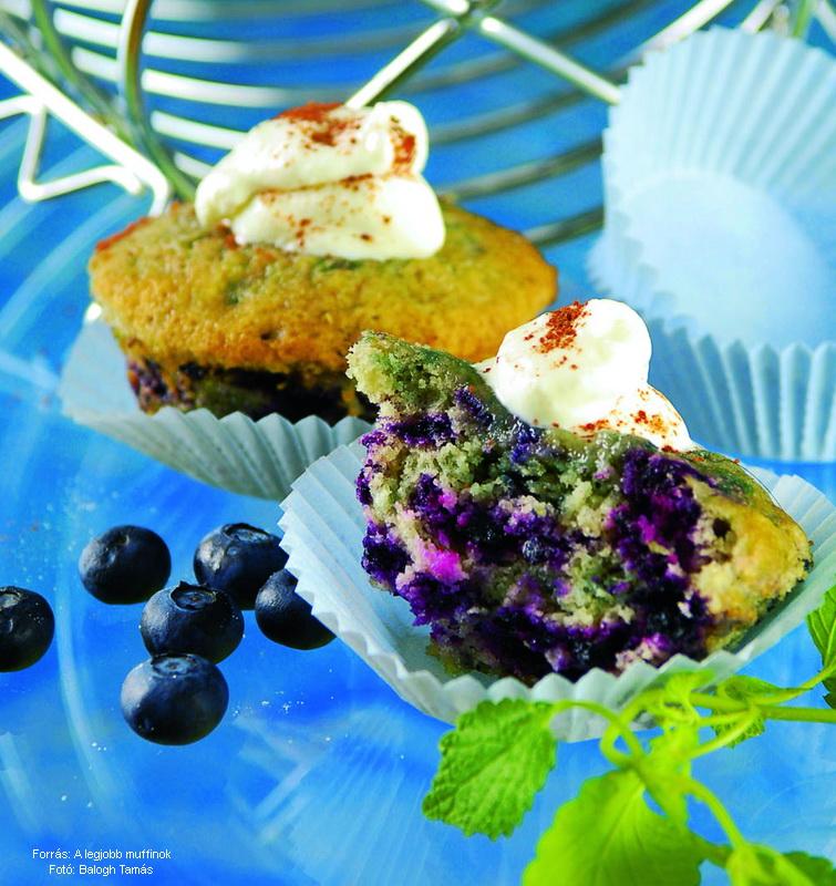 Amerikai áfonyás muffin
