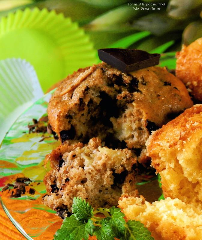 Ananászos, csokoládés muffin