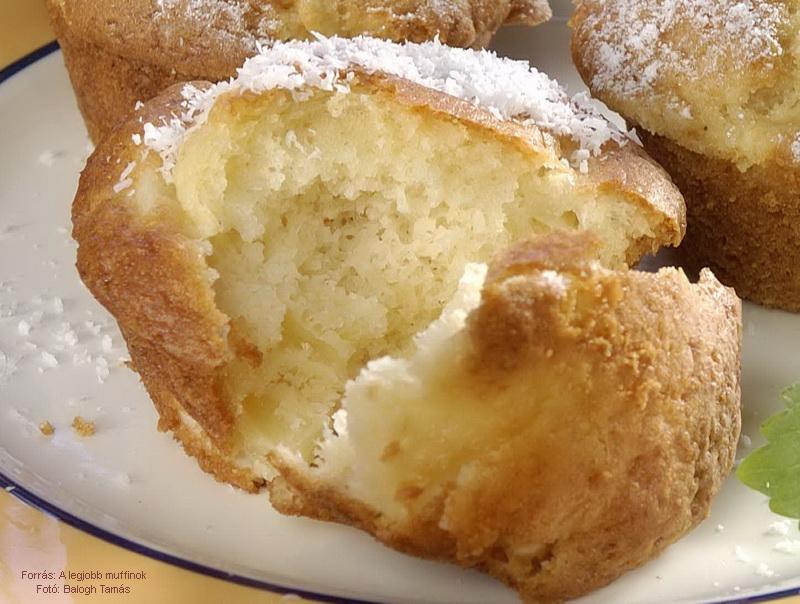 Ananászos, kókuszos muffin