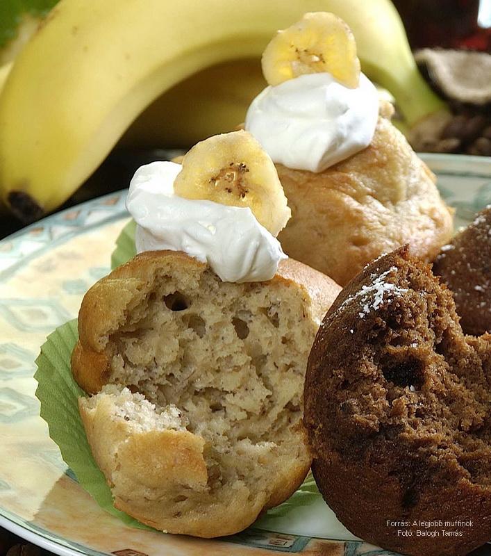 Banános, banáncsipszes muffin