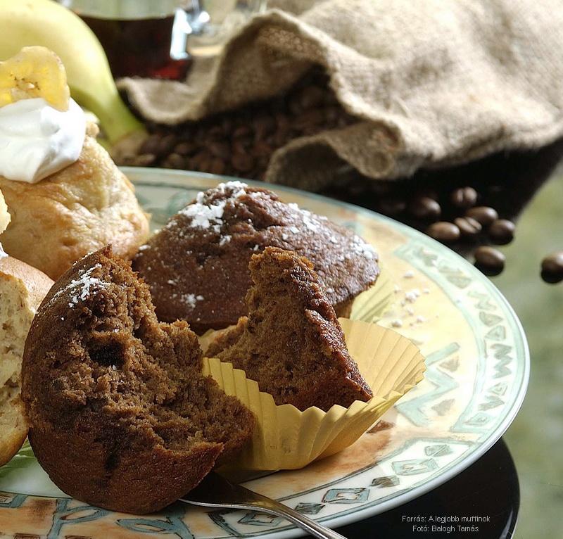 Banános, kávés muffin