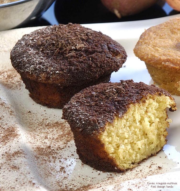 Burgonyás, kakaós muffin