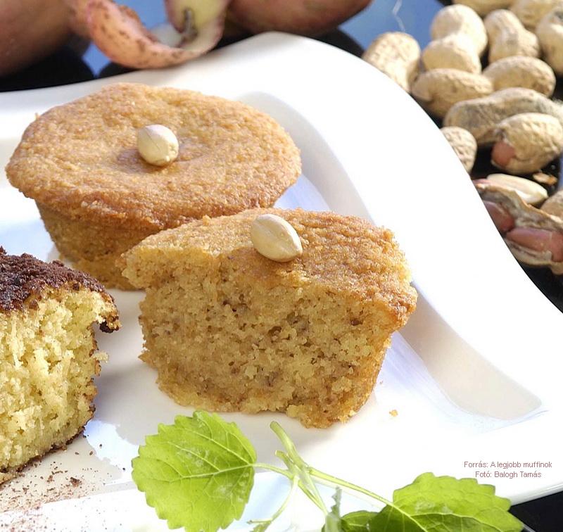 Burgonyás, mogyorós muffin