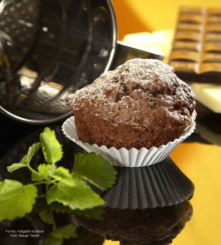 Csokis, kakaós muffin